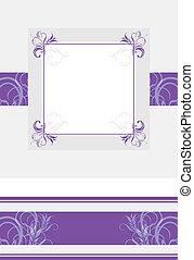Ornamental violet frame and border