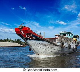 Boat Mekong river delta, Vietnam