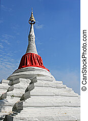 Thai Pagoda with red cloth