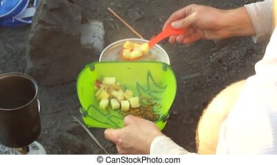 Cooking in wilderness