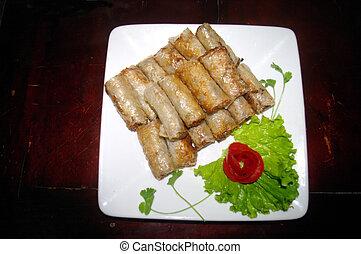 Deep fried spring rolls - Nem Sai Gon (Cha Gio) ingredients:...