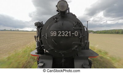 Steam engine locomotive