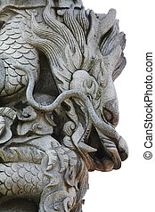 Stone carving-Dragon - Filmed in Zhuzhou in Hunan province...