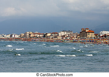 View of Versilia coast - Viareggio