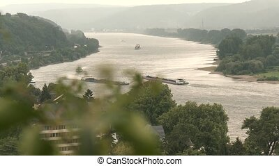 The rive Rhine in germany
