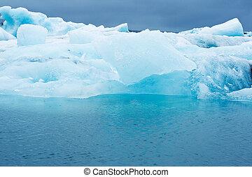 glacier lagoon - icebergs in a glacier lagoon, iceland