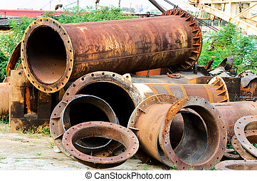 Okld pipes - Old pipes on the junk yard