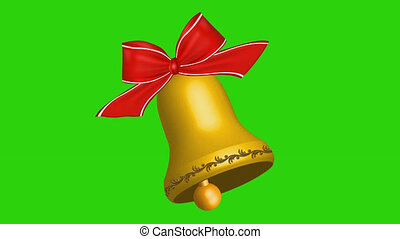 Christmas bell with alpha channel
