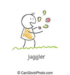 juggler playing with balls