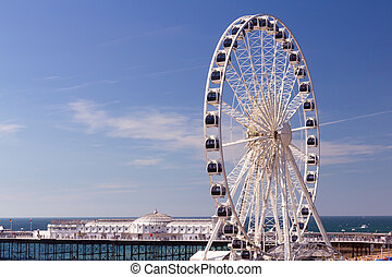 Brighton Wheel - The towering Brighton Wheel on the seafront...
