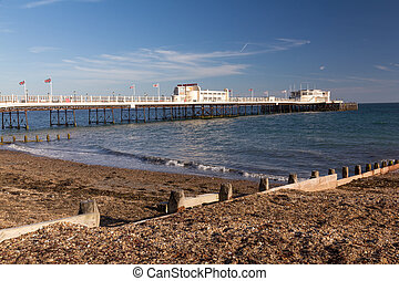Worthing Pier - The beach and pier at Worthing West Sussex...