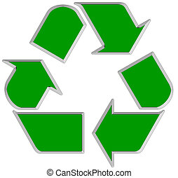 Green world wide Recycle symbol 1