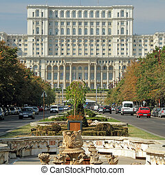 The Palace of the Parliament Romanian: Palatul Parlamentului...