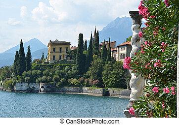vista, lago, Como, vila, Monastero, Itália