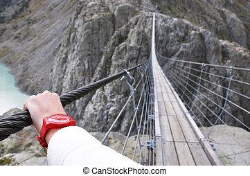 Trift Bridge, the longest 170m pedestrian-only suspension...