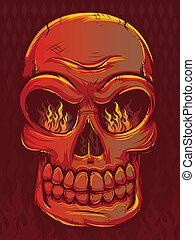 Red Fire Skull