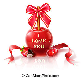 I Love You Candy Apple - Illustrated I Love You Candy Apple...
