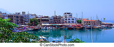 View on harbor from Kyrenia Castle (16th c.), North Cyprus
