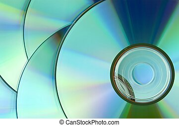 compact discs - background of some colorful compact discs