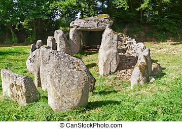 Prehistiric, Dolmen, Normandía, francia