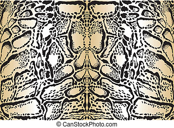 Pattern background clouded leopard - vector illustration...