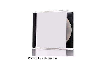 compact disc in box - a compact disc in the box, isolated on...
