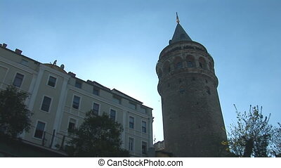 Galata Tower in Istanbul c - The tower was built by the...