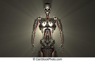 Advanced robot - 3d render of advanced robot