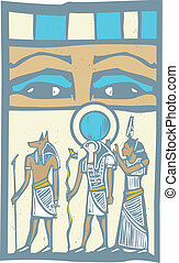 Hieroglyph Eyes - Anubis and Horus the Pharaohs eyes...