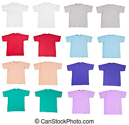 tshirt t shirt template - collection of various t shirts on...