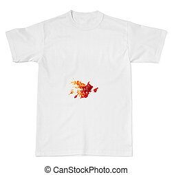 ketchup  food stain on a t shirt