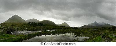 Scottish Highlands Panorama - Panorama of the scottish...