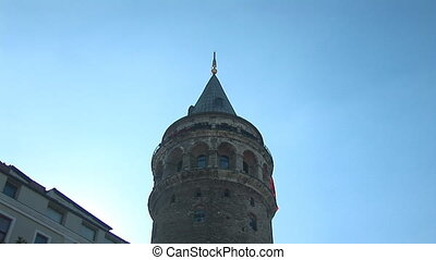 Galata Tower in Istanbul a - The tower was built by the...