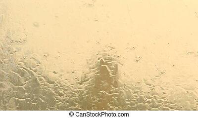Rain dropping on the window