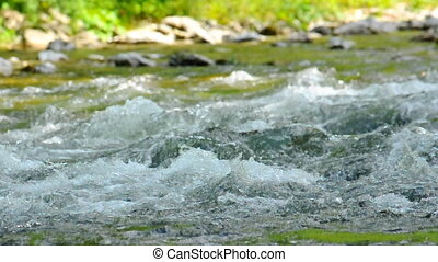 Water flowing in river