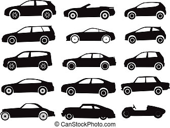 Modern and vintage cars collection