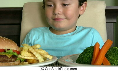 Healthy or unhealthy - Little boy's choice