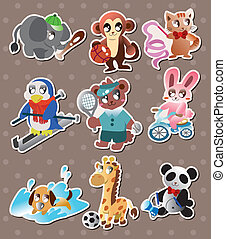 animal sport player stickers