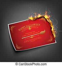 Halloween Invitation - illustration of Halloween inviation...