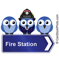 fire station sign