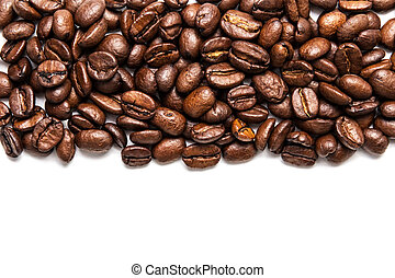 coffe stripe - stripe of coffee beans isolated on white