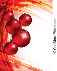 Xmas background with evening balls. Abstract illustration
