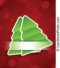 Xmas background with two firtree Colorful illustration
