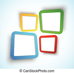 Background with squares - Bright background with colorful...