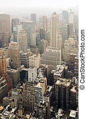 Midtown Manhattan - Skyscrapers on Manhattan. Midtown,...