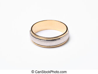 Wedding ring - Close up photo of wedding ring isolated on...