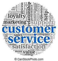 Customer service concept on white - Customer service concept...