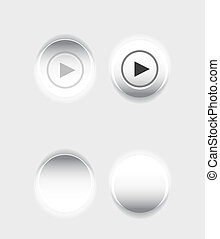 Pushed button - Light white pushed button design