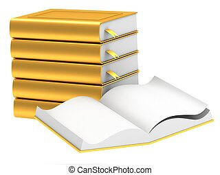 Gold stack of books