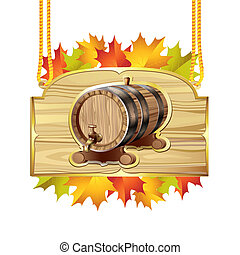Wood barrel for wine